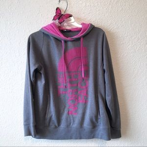 The North Face • grey & pink hoodie